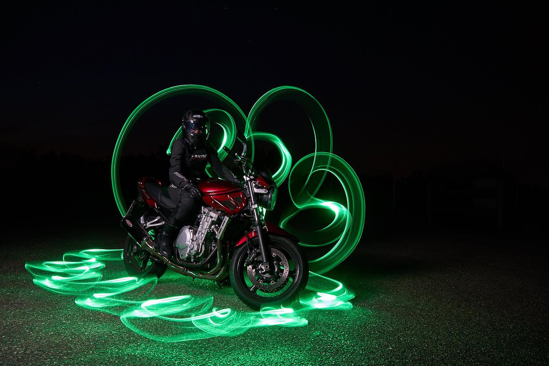 Suzuki Bandit Lightpainting