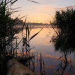 Der Heidesee im Morgenrot