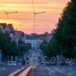 Ludwig-Wucherer-Straße zum Sonnenuntergang