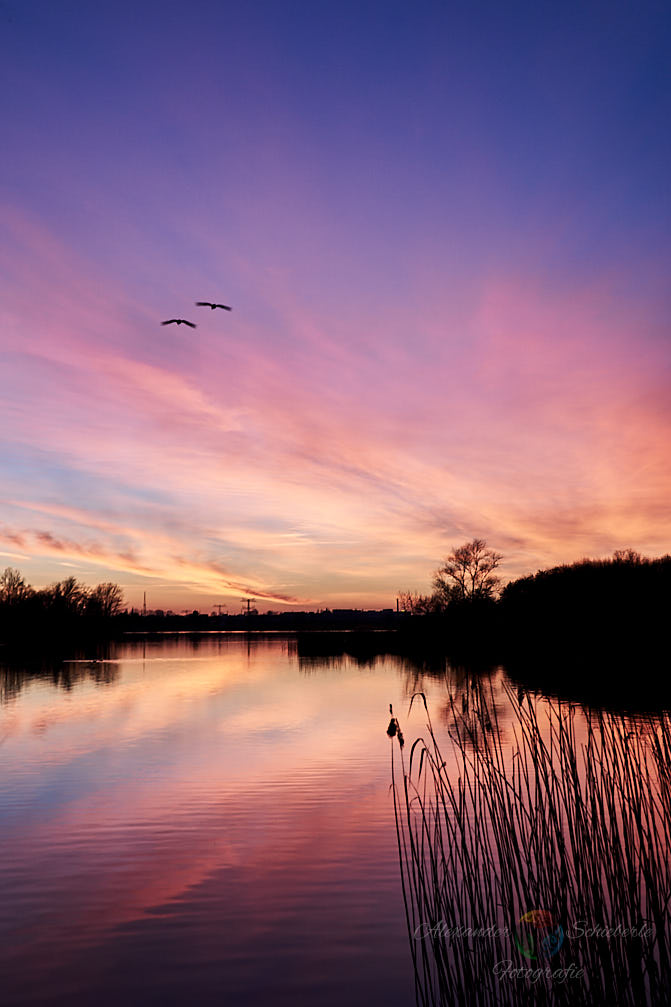 Der Hufeisensee zum Sonnenuntergang