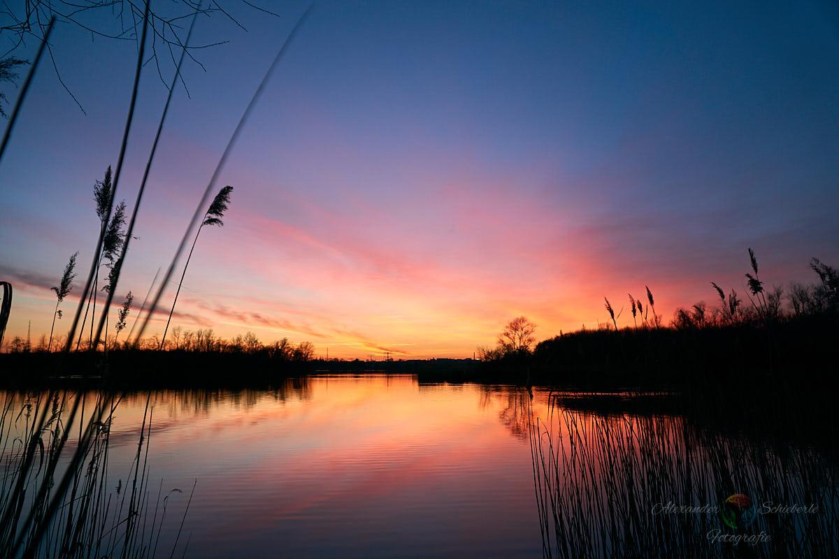 Hufeisensee zum Sonnenuntergang