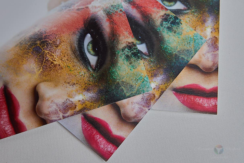 Links: Fotopapier / Mitte: Premiumpapier / Rechts: Kunstdruck