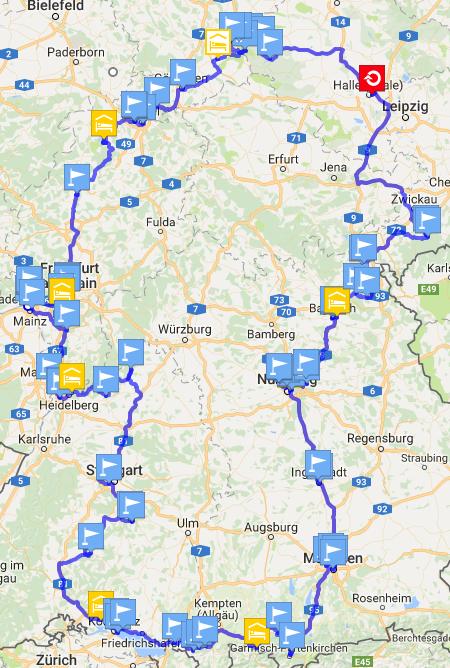 Meine Roadtrip-Route durch Deutschland