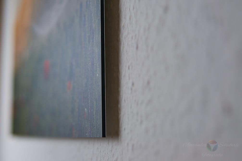 Wandbild mit Abstand zur Wand