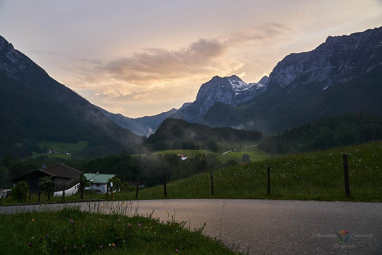 Berchtesgadenener Alpen zum Sonnenuntergang