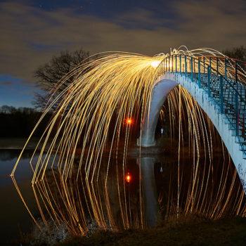 Der Katzenbuckel in Trotha mit Lightpainting