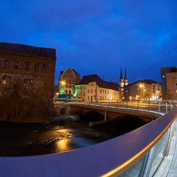Klausbrücke mit der Marktkirche