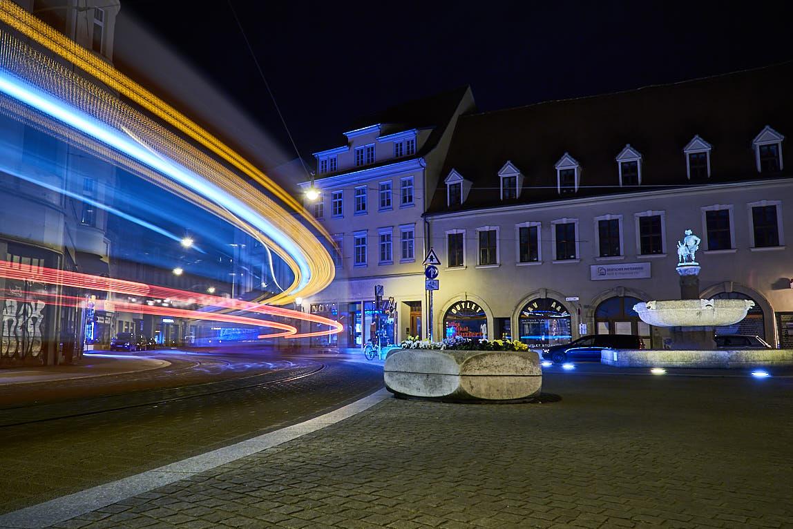 Lichtzieher von Straßenbahnen - Eselsbrunnen in Halle