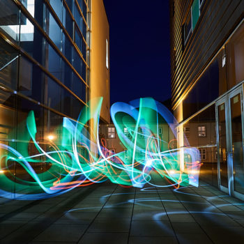 Lightpainting in der Innenstadt