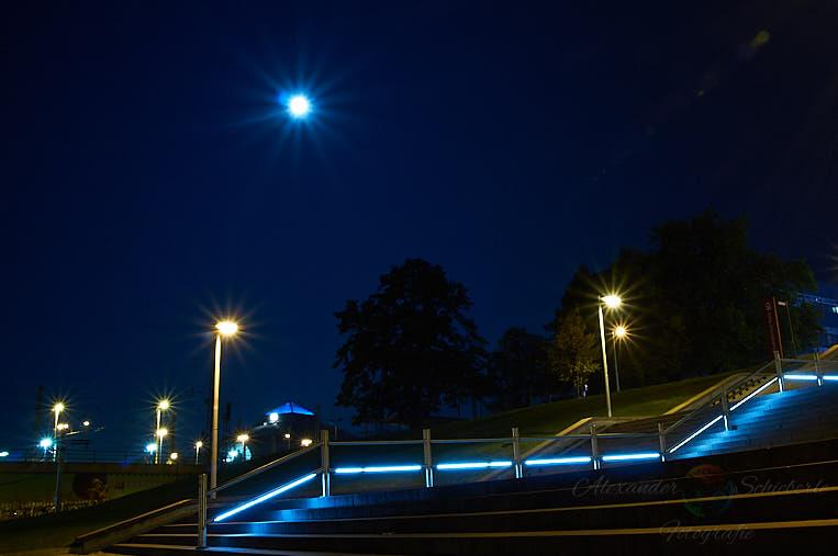 """Der Mond als """"Stern"""" bei Blende f22"""