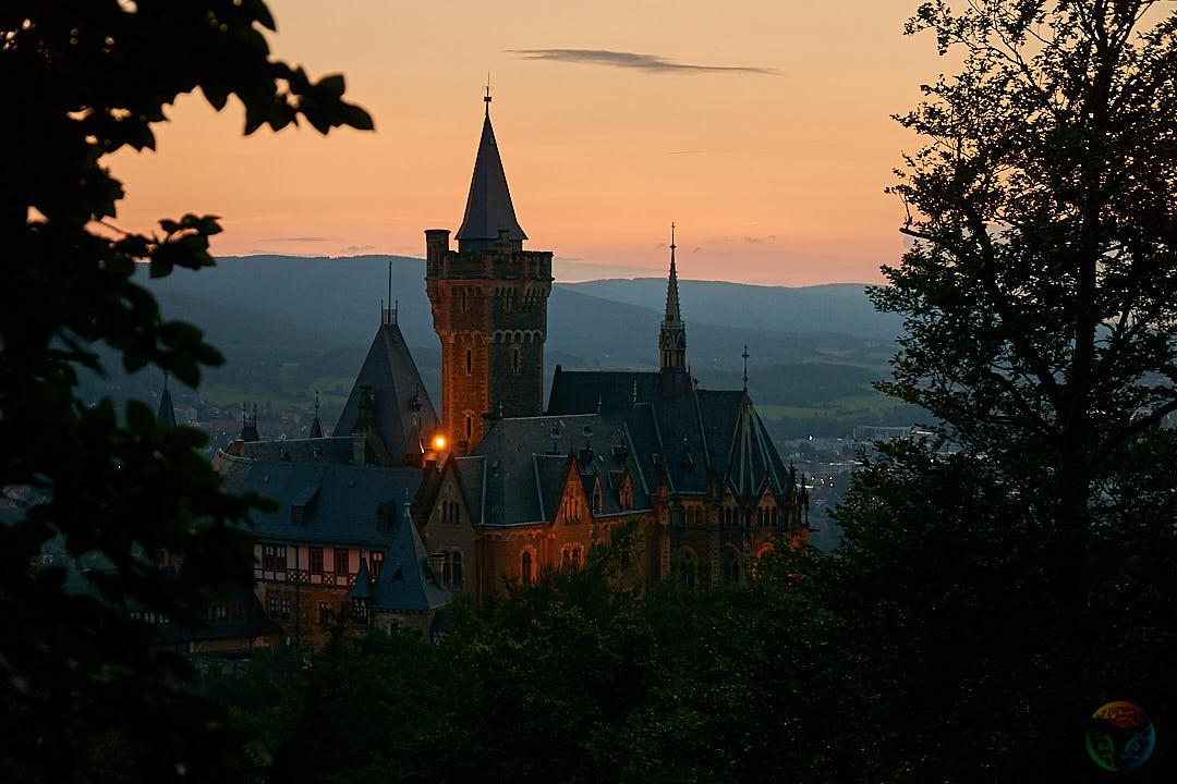 Blick vom Agnesberg zum Wernigeroder Schloss